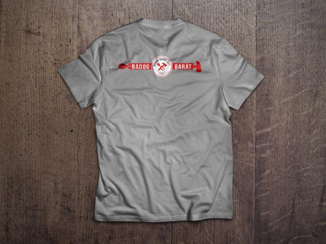 bádogbarát póló háta