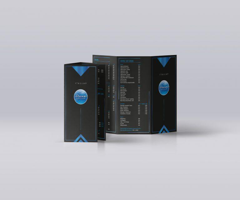 dunapresszó brochure mockup kék